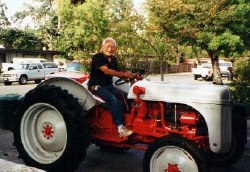 Jerry Kaneko with 1948 Ford 8N tractor